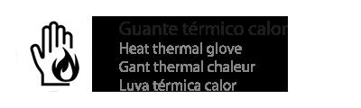 guante térmico calor
