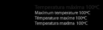 temperatura máxima 100ºC