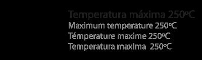 temperatura máxima 250ºC