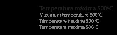 temperatura máxima 500ºC