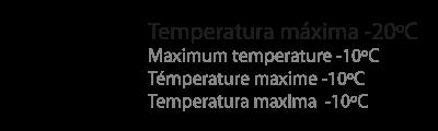 temperatura máxima -20ºC